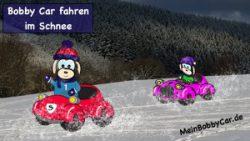 Bobby Car fahren im Schnee - MeinBobbyCar.de