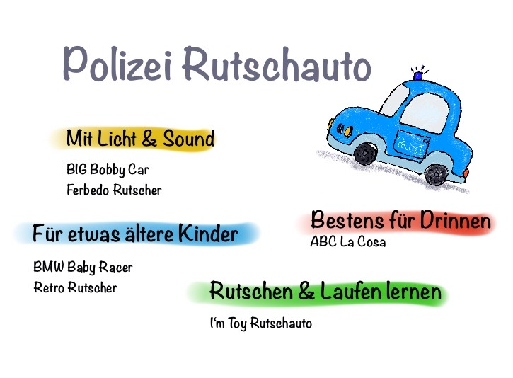 Bobby Car Polizei - Polizei Rutschauto